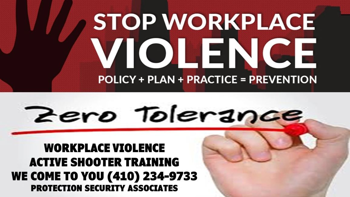 WORKPLACE VIOLENCE TRAINING
