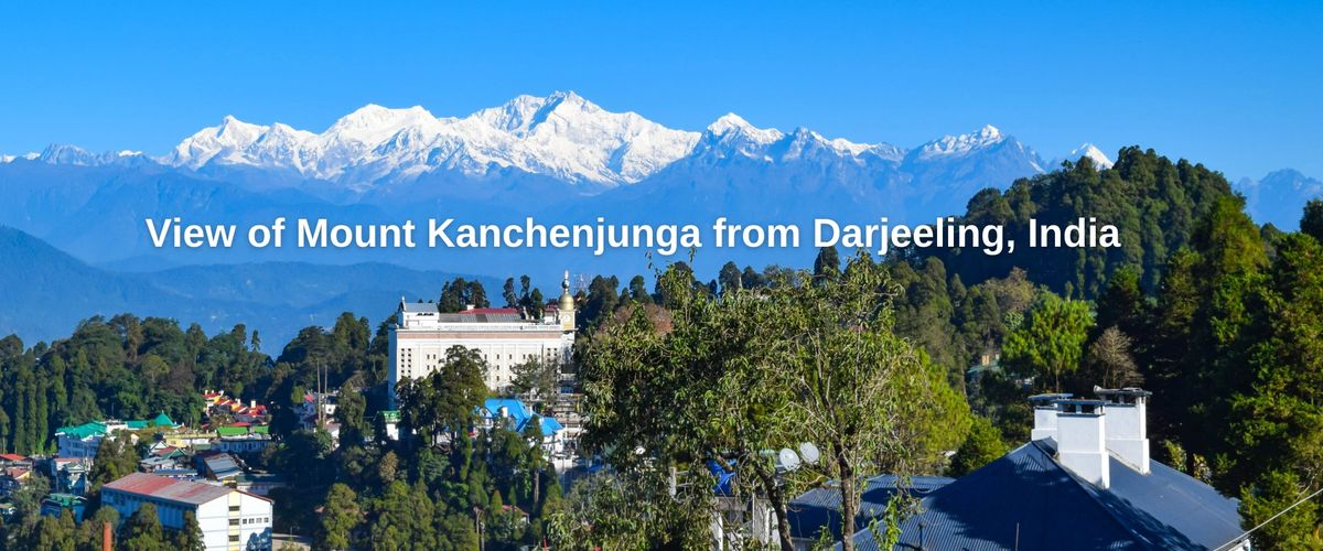 View of Mount Kanchenjunga from Darjeeling, India