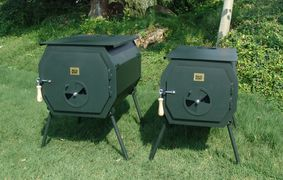 Wood Burning Camp Stove, Octagon Stove