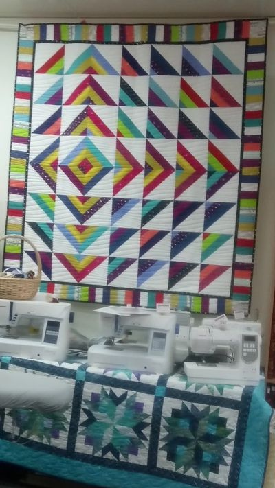 Lightning Ridge - strip-pieced quilt by Vicki Allen