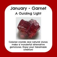 January Birthstone, raw garnet
