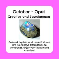 October birthstone, raw opal