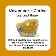 November birthstone, raw citrine