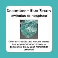 December birthstone, raw blue zircon