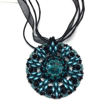 Blue Zircon Color Pendant
