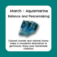March birthstone, raw aquamarine