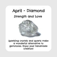 April birthstone, raw diamond
