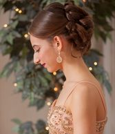 Girl wearing earrings at prom