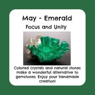 May birthstone, raw emerald