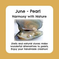 June birthstone, pearl in shell