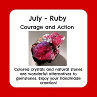 July birthstone, raw ruby