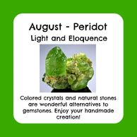 August birthstone, raw peridot