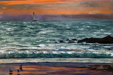 California sunrise, Oil 16 x 20 in.  £400