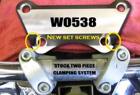 WO538 Handlebar clamp
