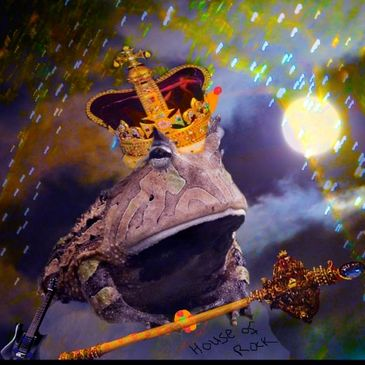 King Toad digital art by energy artist Deprise Brescia from her Children's eBook Fanny & The DG's