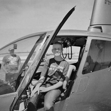 Niclas Nick Herle donating helicopter tours to the Make-A-Wish Foundation for children battling with cancer