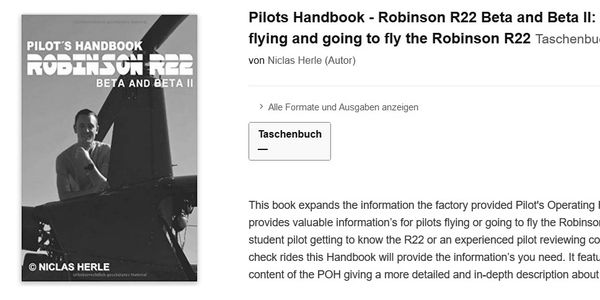 Niclas Nick Herle is the Author of the Pilots Handbook for Robinson R22