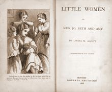 Frontispiece of the first edition of Little Women, 1868