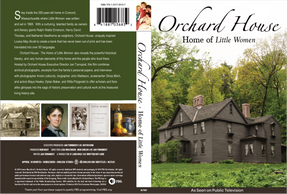 Front and back covers of Orchard House:  Home of Little Women Documentary DVD