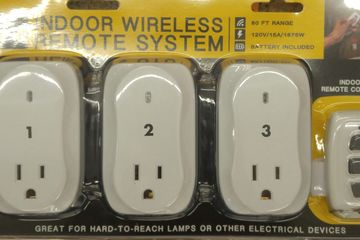 3 Indoor Remote Controlled Power Device perfect for hard to reach outlets effective up to 80 feet.