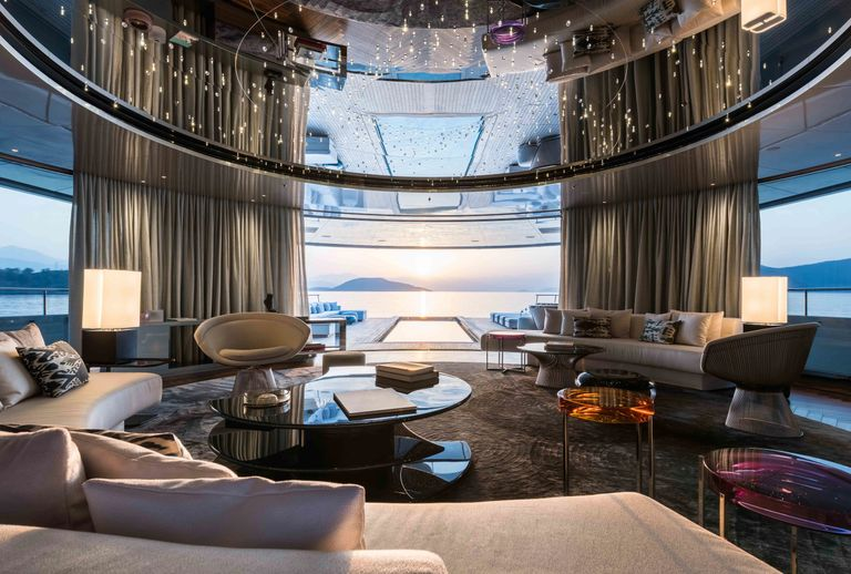 View from the Main Salon of the Feadship Superyacht SAVANNAH
