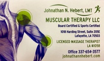 Johnathan N. Hebert, LMT MUSCULAR THERAPY LLC