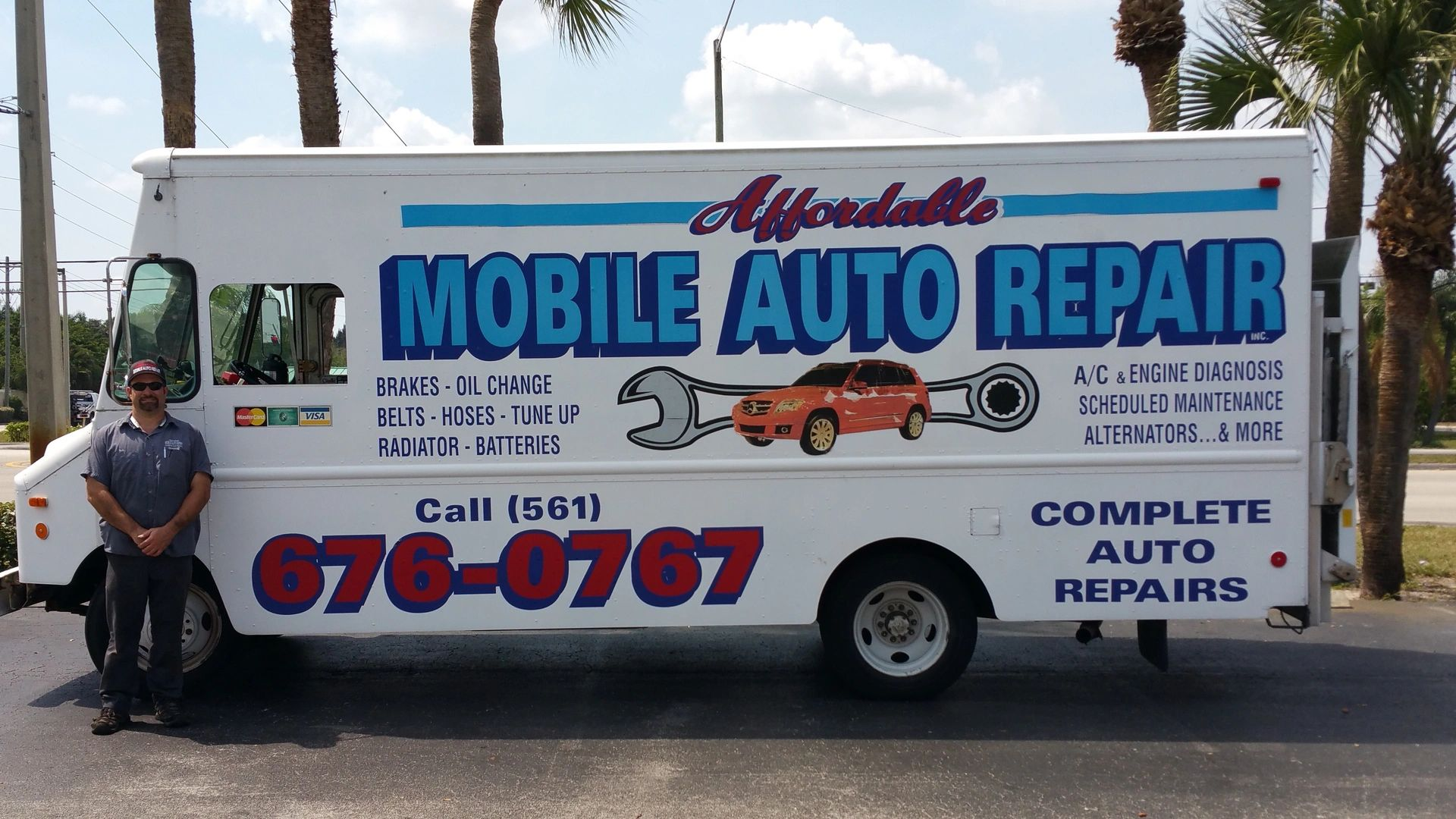 Mobile auto repair shop on wheels