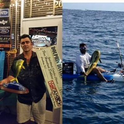 Captain Benny goes offshore in a kayak and Lands there Biggest Mahi