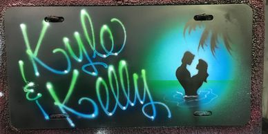 "Custom CAR TAGS.  I airbrush so called ""License Plates"" to put on your car. Aluminum metal, painted."