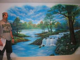 Wall Murals, inside or outside.  Cars, trucks, trailers, motorcycles, helmets, leather jackets,