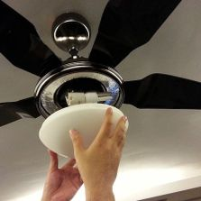 New ceiling fan installation and pre-wire