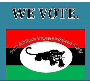 new afrikan independence party, focus on voting, voter education, voter registration, the power of o