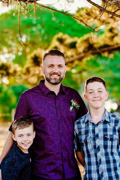 Founder and Director Joel, with his two sons Connor (Left) Jacob (Right)