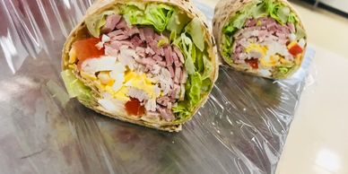 Chef's Salad Whole Wheat Wrap