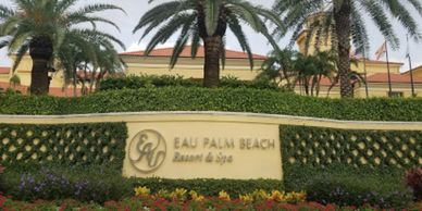 EAU HOTEL & RESORT Shuttle rental, palm beach airport to eau hotel limo rental, palm beach airport