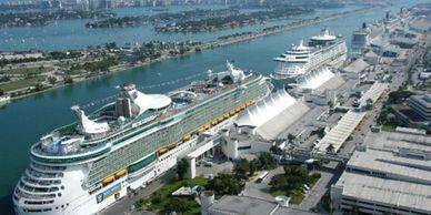 port of Palm beach Car Service, Port Everglades limousines, port of Miami Limo, limos. Limousines