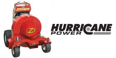Rhode Island Huricane Power Stand on Riding Leaf Blower
