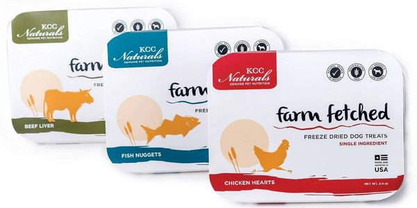 KCC farm fetched packaged freeze dried pet treats