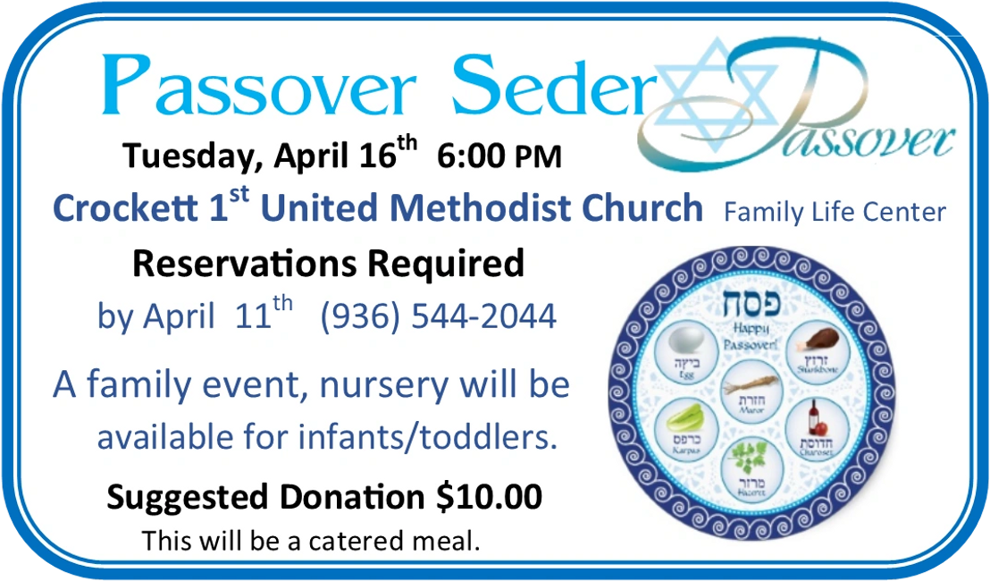 Seder Meal at First United Methodist Church
