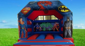 Super Hero Bouncy Castle Hire Plymouth