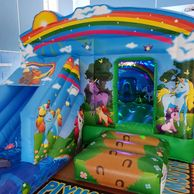 Unicorn Disco Slide Bouncy Castle Hire Plymouth