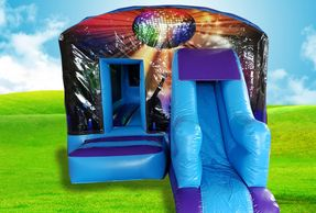 Disco Slide Bouncy Castle Hire Plymouth