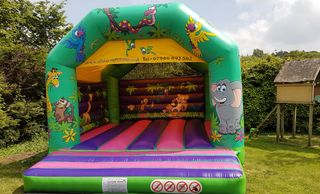 Adult Jungle Bouncy Castle Hire Plymouth
