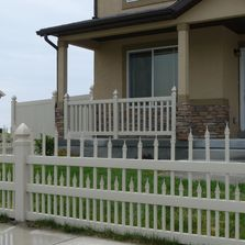 vinyl picket fence, deck railing, privacy fence