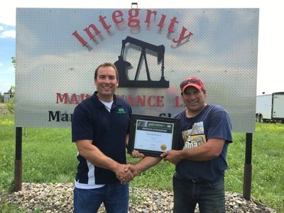 Receiving the COR - 2016 @ Integrity maintenance Ltd. Carlyle. SK.