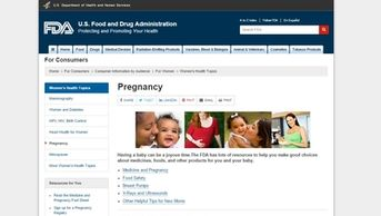 U.S. Food and Drug Administration. Women's Health Topics