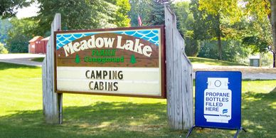 Meadow Lake Family Campground Sign