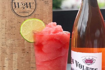 Water into Wine Slushy in Knoxville, TN. New wine slushy flavor Guava Strawberry Rosé.