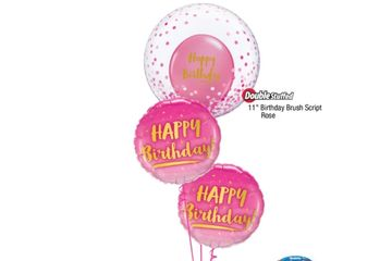 "Deco bubble with latex balloon inside (your choice of designs) plus 2 x 18"" foils of your choice."