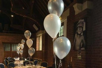 Trio of latex wedding balloons